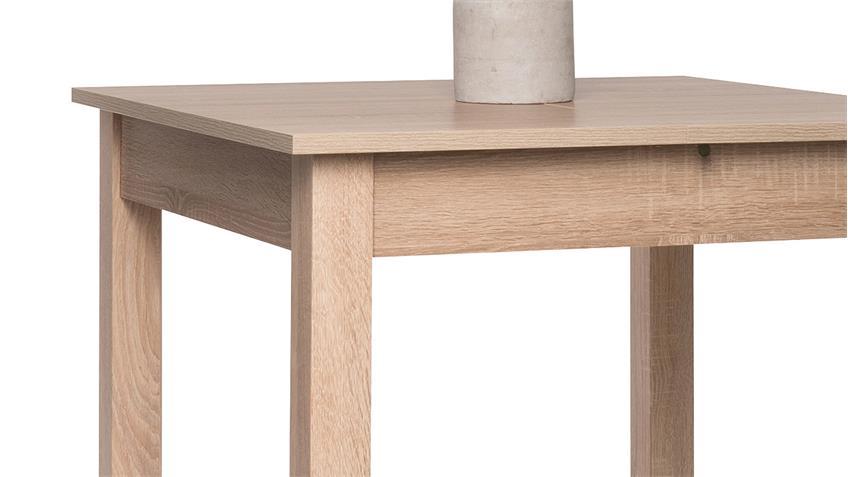 Esstisch COBURG Tisch Küchentisch Sonoma Eiche ausziehbar 80-120x80