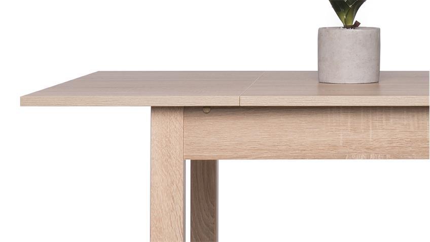 Esstisch COBURG Tisch Küchentisch Sonoma Eiche ausziehbar 80 120x80