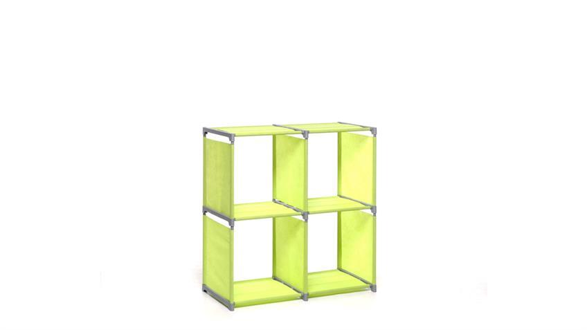 Steckregal QUICKTEC Würfel 4 Fächer Regal apfelgrün