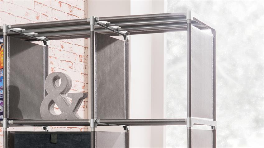 Steckregal QUICKTEC Raumteiler mit 12 Fächern anthrazit