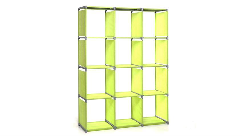 Steckregal QUICKTEC Raumteiler mit 12 Fächern apfelgrün