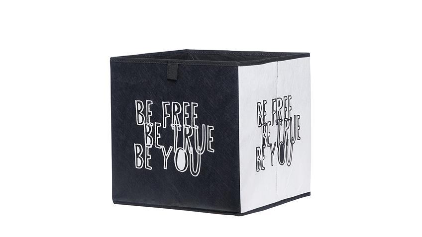 Faltbox FLORI 1 Aufbewahrungsbox Black White 32x32x32 cm