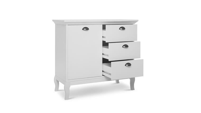 Kommode Weiß Barock : sideboard provence kommode anrichte schrank in wei barock look 97 cm ~ Orissabook.com Haus und Dekorationen