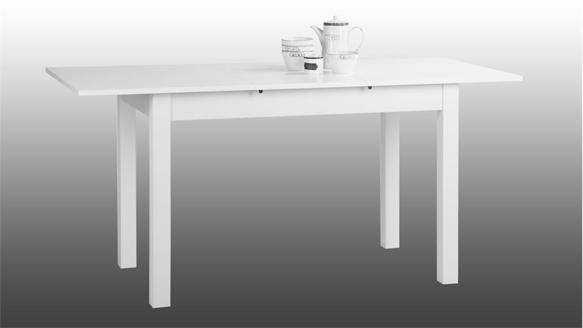 esstisch coburg tisch k chentisch in wei ausziehbar 120 160x70 cm. Black Bedroom Furniture Sets. Home Design Ideas