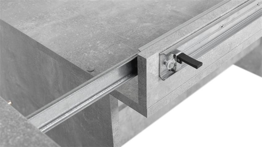 Esstisch ANCONA Ausziehtisch Tisch Beton grau 160-310