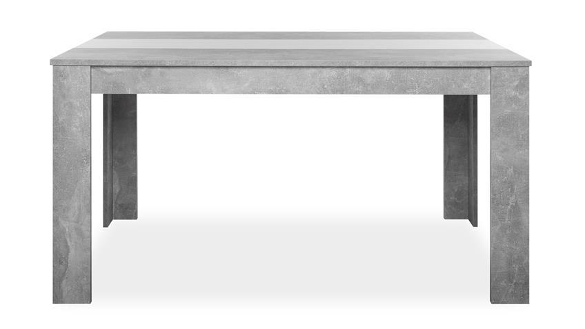 Esstisch NIKLAS Betonoptik grau inkl. Wendeplatte