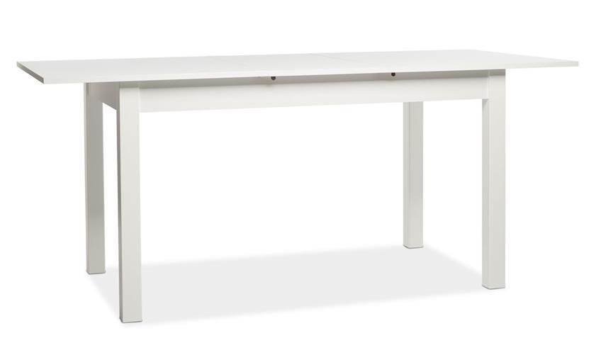 Esstisch COBURG Esszimmertisch weiß ausziehbar 140-180 cm
