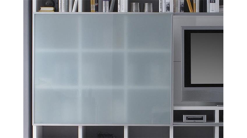 Wohnwand TORO 103 Weiß Hochglanz lackiert