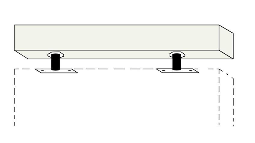 Toro  Deckenverspanner Lack Weiß matt TO-Z10-04