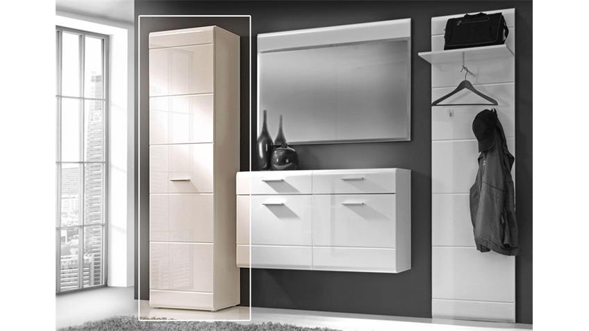 Garderobenschrank AVEO mit Front in weiß hochglanz
