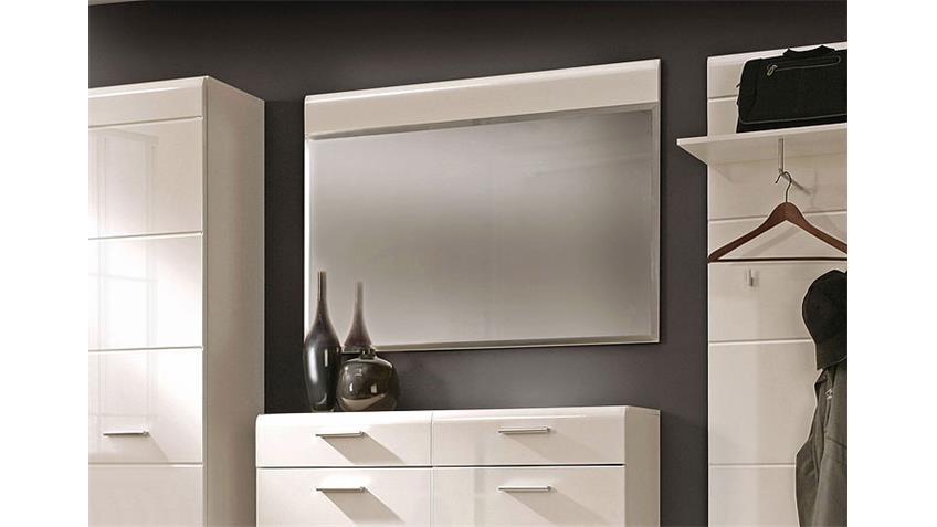 Spiegel AVEO Wandspiegel Garderobe weiß hochglanz