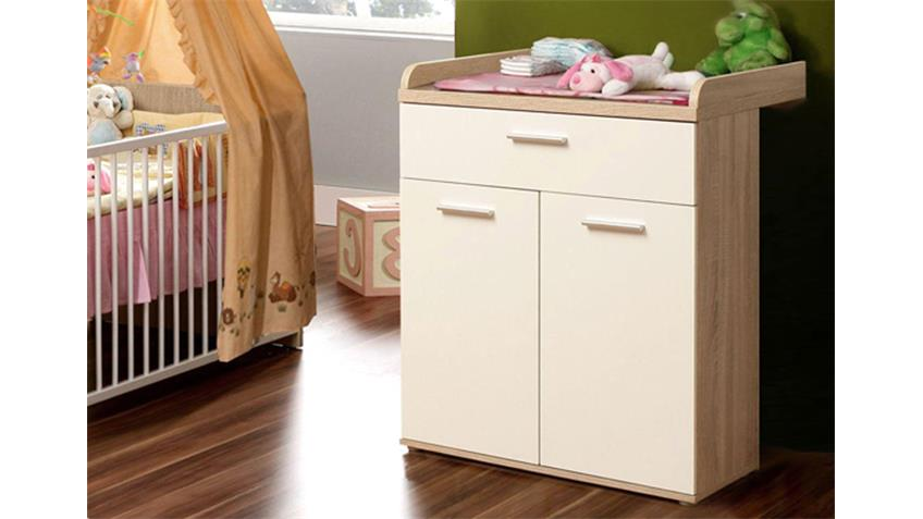 babyzimmer winnie 4 teilig sonoma eiche und dekor wei. Black Bedroom Furniture Sets. Home Design Ideas