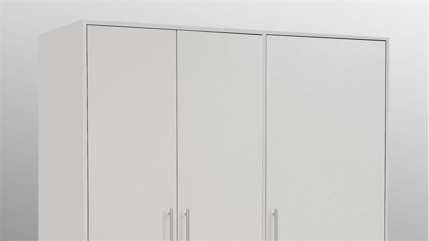 Kleiderschrank Jupiter weiß mit 3 Schubkästen Breite 145 cm