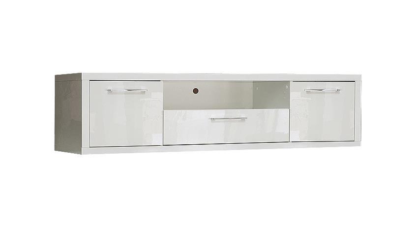 TV Board SHINE 3 Lowboard Unterschrank in weiß Hochglanz