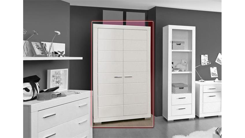 kleiderschrank snow schrank in wei matt dekor 115 cm. Black Bedroom Furniture Sets. Home Design Ideas