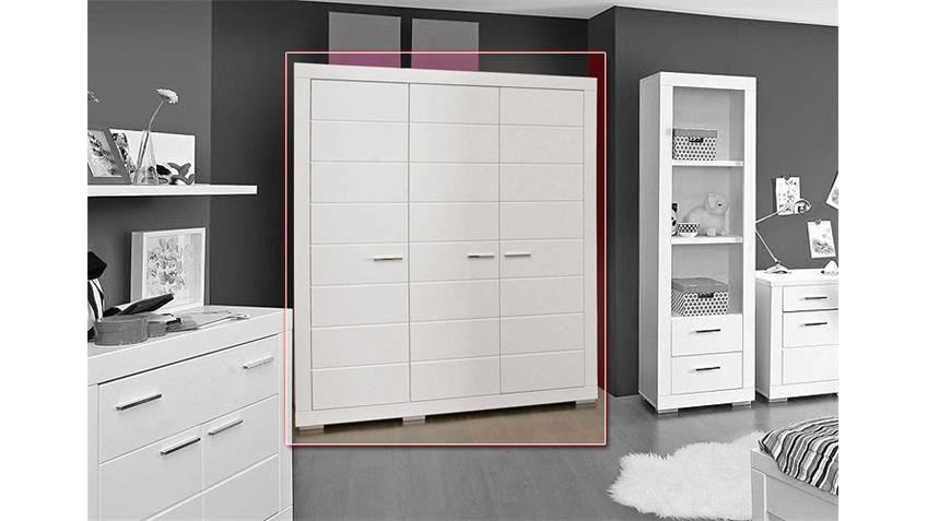 kleiderschrank snow schrank in wei matt dekor 165 cm. Black Bedroom Furniture Sets. Home Design Ideas