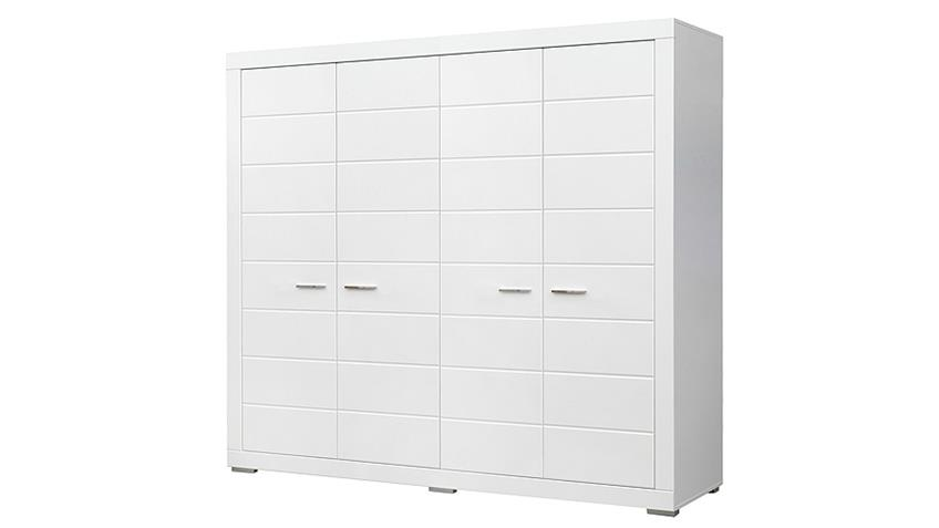 kleiderschrank snow schrank in wei matt dekor 215 cm. Black Bedroom Furniture Sets. Home Design Ideas