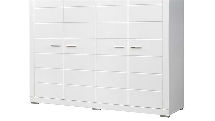 Kleiderschrank SNOW Schrank in weiß matt Dekor 215 cm