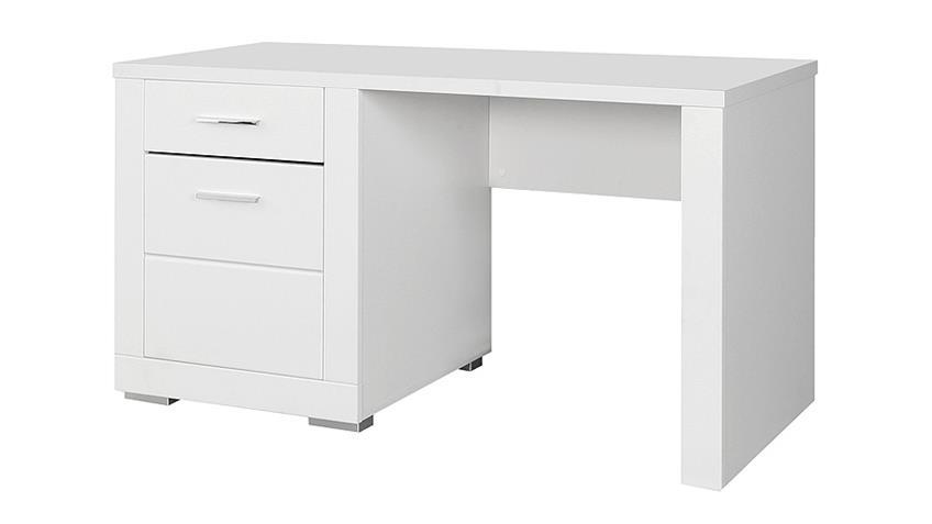 Schreibtisch SNOW Computertisch PC Tisch in weiß matt