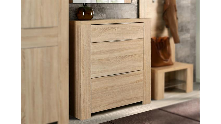 schuhschrank calpe garderobe kommode in sonoma eiche. Black Bedroom Furniture Sets. Home Design Ideas