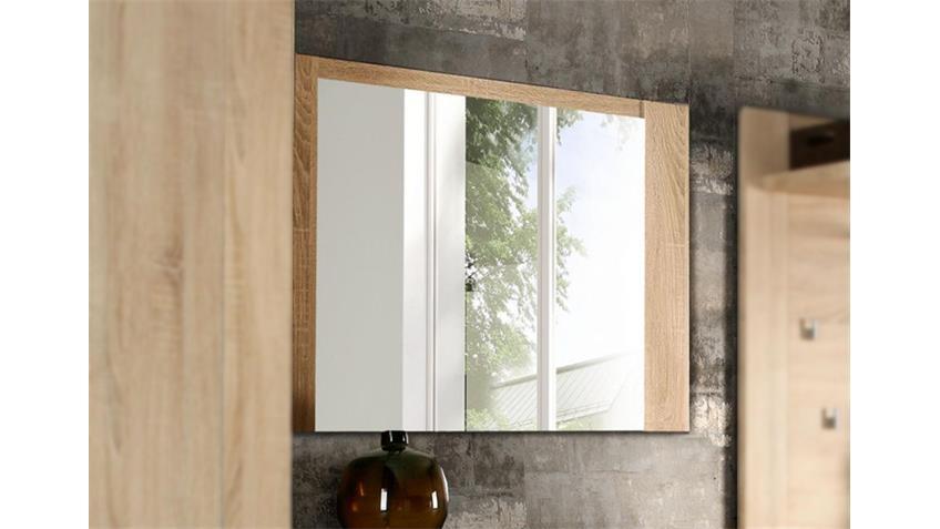 Spiegel CALPE Garderobe Wandspiegel in Sonoma Eiche Dekor