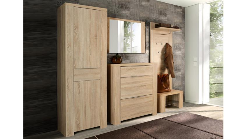 schuhbank calpe garderobe sitzbank mit ablage sonoma eiche. Black Bedroom Furniture Sets. Home Design Ideas
