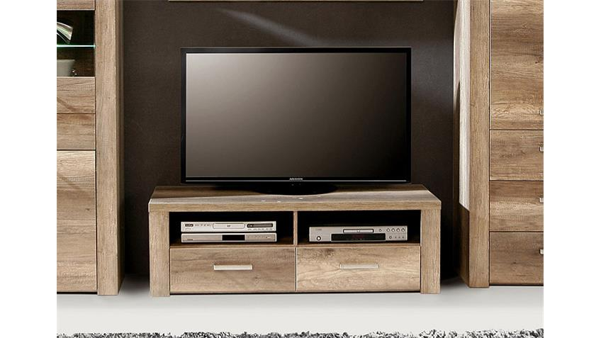 tv unterteil portland lowboard in eiche antik vintage look. Black Bedroom Furniture Sets. Home Design Ideas