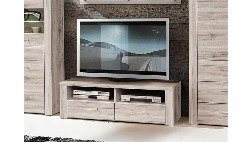 TV Unterteil PORTLAND Lowboard Board in Sandeiche Dekor