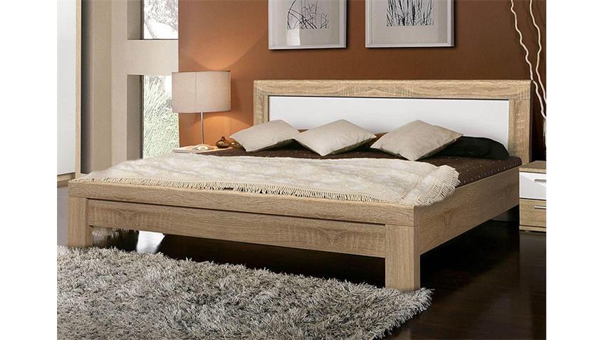 Schlafzimmer-Set JULIETTA Sonoma Eiche und Weiß Hochglanz