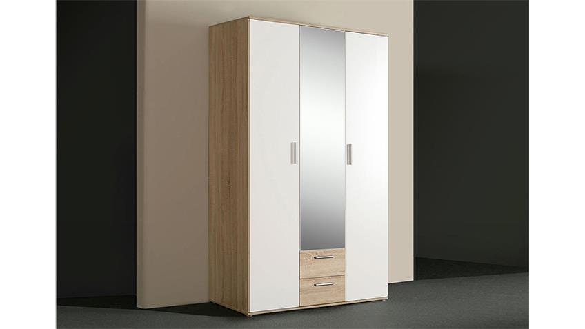 Kleiderschrank NANO Sonoma Eiche und Weiß