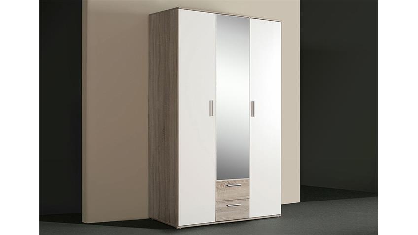 Kleiderschrank NANO Sonoma Eiche grau und Weiß
