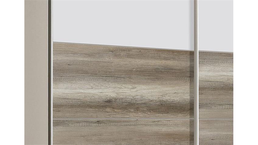 Schwebetürenschrank SCOOTER Weiß und Eiche Antik