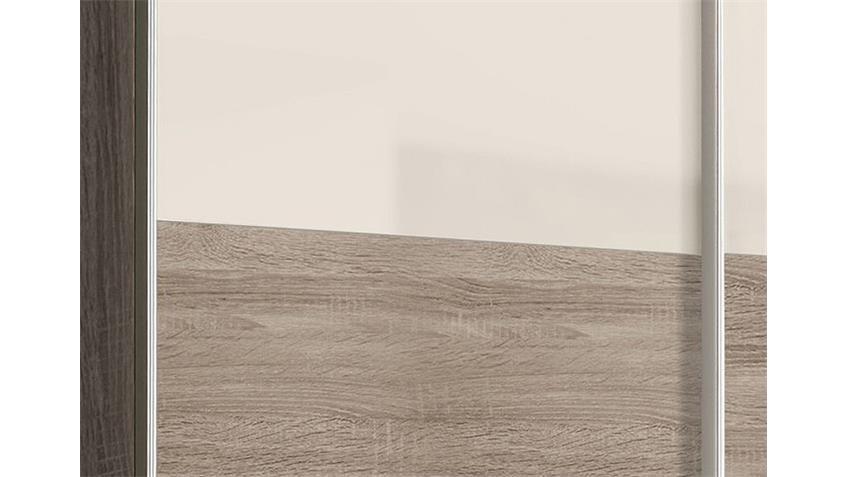 Schwebetürenschrank SCOOTER Sonoma Eiche grau Hochglanz