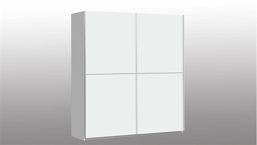 Schwebetürenschrank WINNER Kleiderschrank Schrank in weiß 170x190 cm