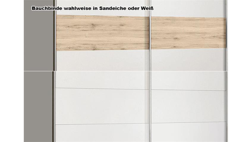 Schwebetürenschrank WINNER Weiß und Sandeiche 170 CM