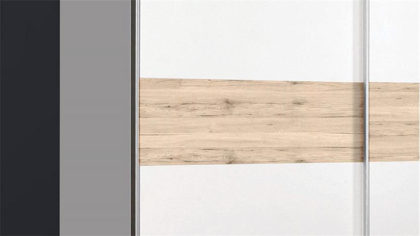 Schwebetürenschrank WINNER Schrank in weiß und Sandeiche 170x190 cm