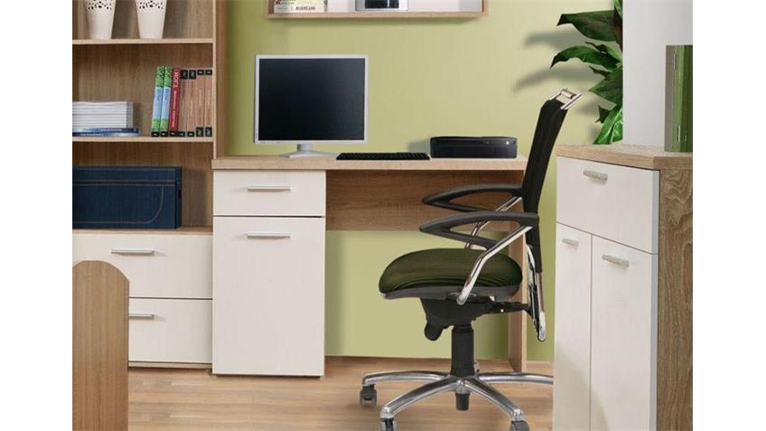 Schreibtisch WINNIE Jugendzimmer Sonoma Eiche weiß