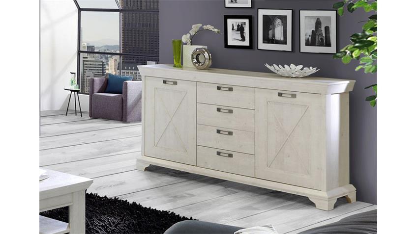 sideboard kashmir kommode anrichte in pinie wei. Black Bedroom Furniture Sets. Home Design Ideas