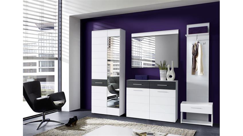 Spiegel POLAR Wandspiegel Dekospiegel in weiß Hochglanz