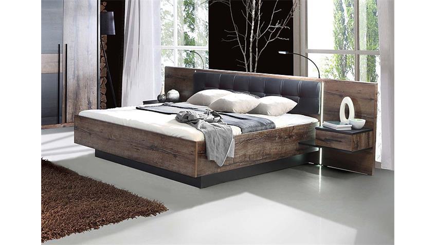 bettanlage bellevue bett schwarzeiche und schlammeiche led. Black Bedroom Furniture Sets. Home Design Ideas