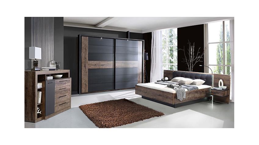 Schlafzimmerset 1 BELLEVUE Schwarzeiche und Schlammeiche