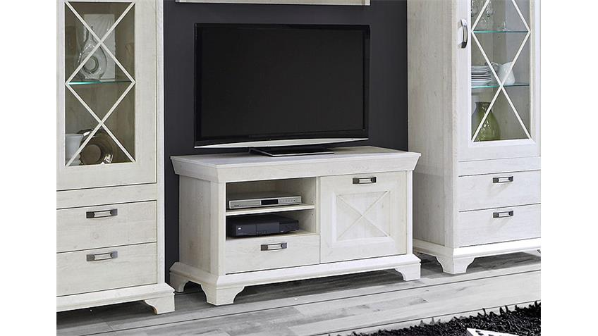 tv board 1 kashmir lowboard tv unterschrank in pinie wei. Black Bedroom Furniture Sets. Home Design Ideas