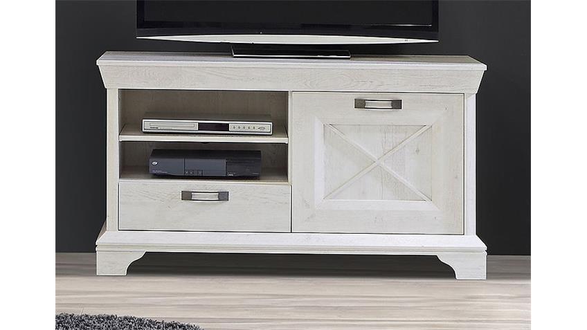 TV-Board 1 KASHMIR Lowboard TV-Unterschrank in Pinie weiß
