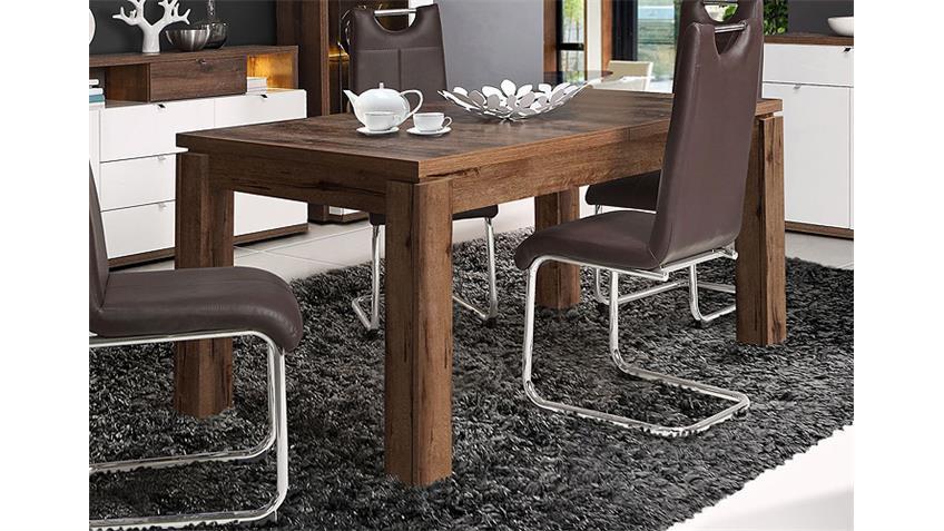 Esstisch ALCANO Tisch Esszimmertisch Schlammeiche 160-207
