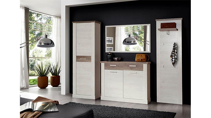 garderobenschrank duro kleiderschrank pinie wei eiche antik. Black Bedroom Furniture Sets. Home Design Ideas