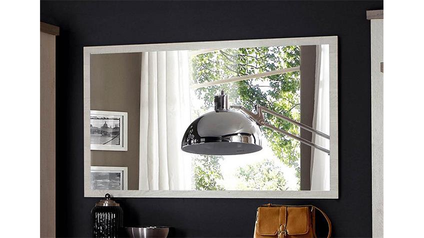 Spiegel DURO Wandspiegel Garderobenspiegel in Pinie weiß