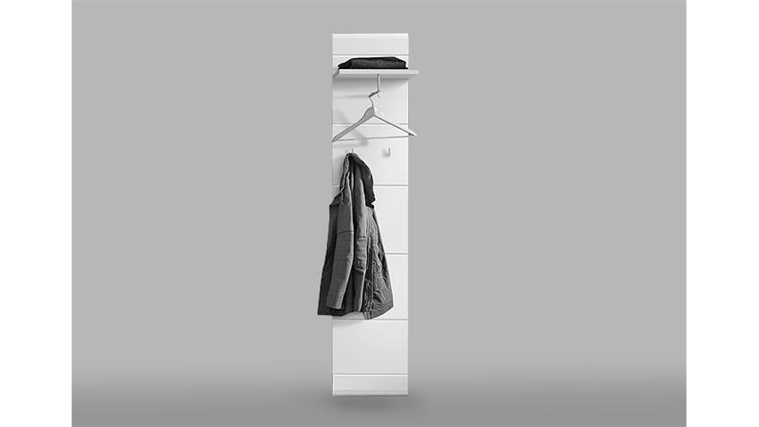 Garderobenset SLATE Garderobe  in weiß Hochglanz und matt