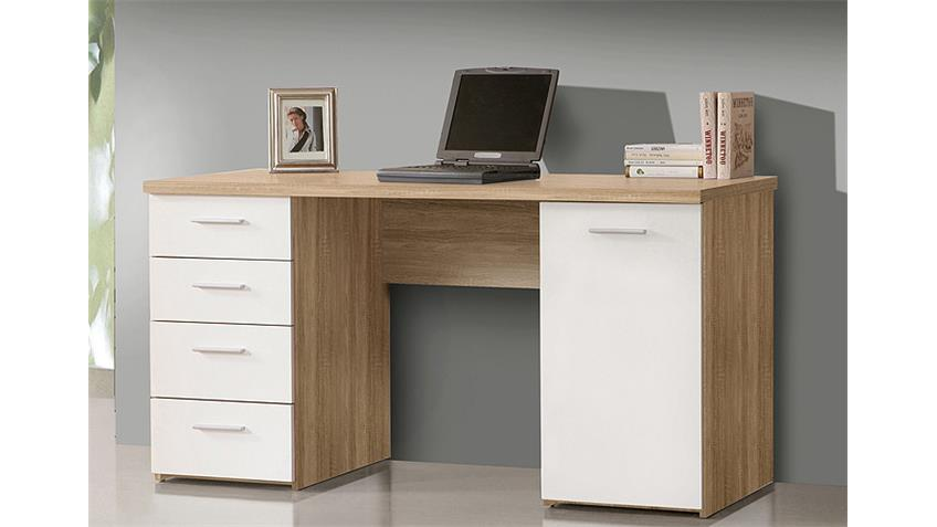 Schreibtisch NET 106 Computertisch in Sonoma Eiche weiß