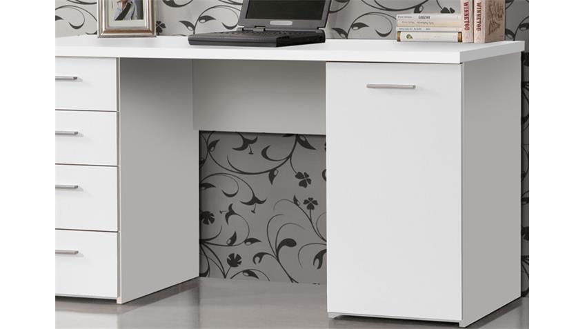 Schreibtisch NET 106 Computertisch PC-Tisch in weiß matt