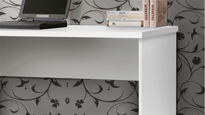 Schreibtisch NET106 Bürotisch Laptoptisch Tisch in weiß matt 140x60 cm